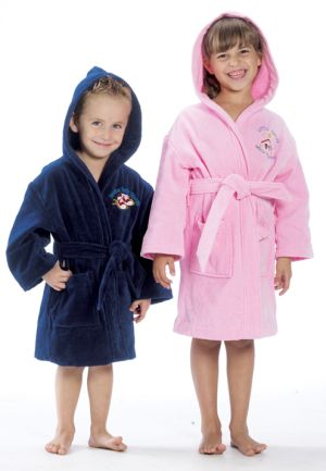 Hooded Children's Terry Velour Robe-