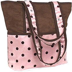 Hoohobbers Pink Dots Tote-Hoohobbers dots tote bag