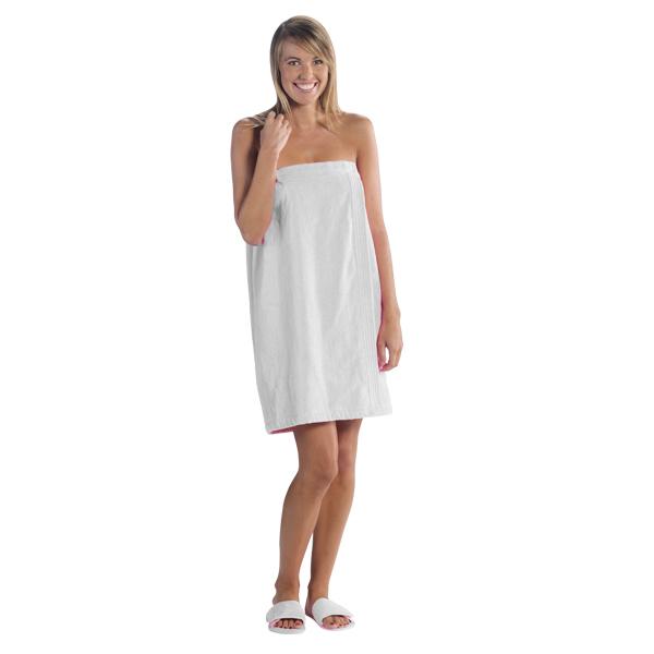White Towel Wrap-