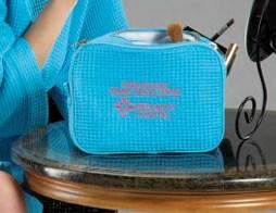 Waffle Weave Cosmetic Bag-
