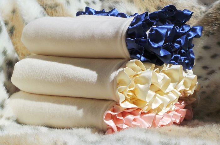 """Robbie Adrian """"A Little Less Ruffle"""" Organic Nursery Blanket(37""""x37"""")-Robbie Adrian Organic Fleece Blanket"""