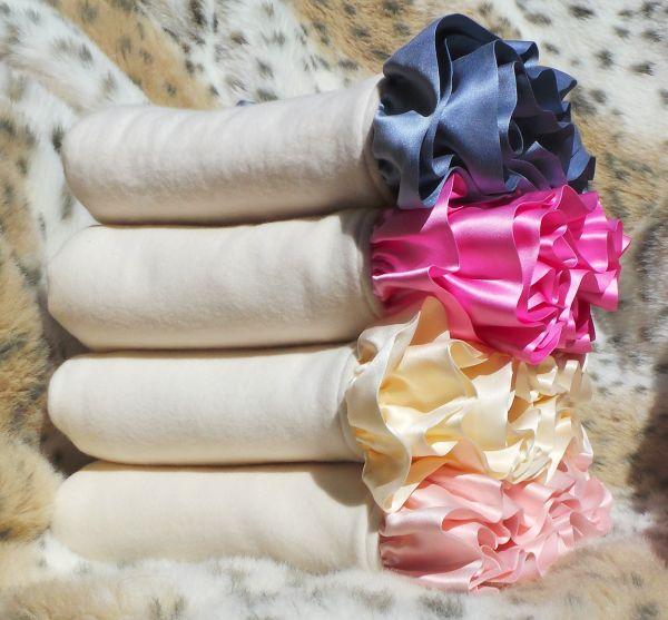 """Robbie Adrian Luxury Organic Ruffled Crib Blanket (32""""x38"""")-Robbie Adrian, certified organic, baby blanket, baby gifts, luxury gift"""