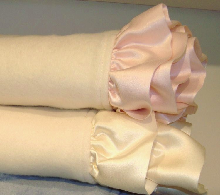 "Robbie Adrian Luxury Organic Ruffled Nursery Blanket (38""x38"")-"