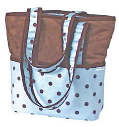 Hoohobbers Blue Dots Tote-Hoohobers, blue dots, tote, diaper bag