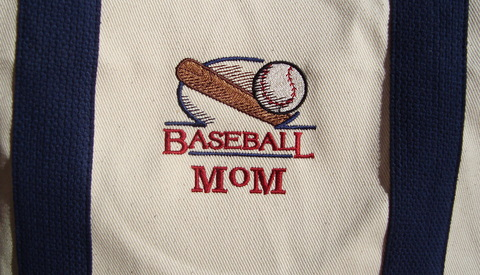 Baseball Mom Canvas Tote Bag-canvas tote bag, baseball mom tote bag,
