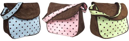 Hoohobbers Dots Messenger Bag (Pink, Blue, or Green)-hoohobbers messenger bag, dots,