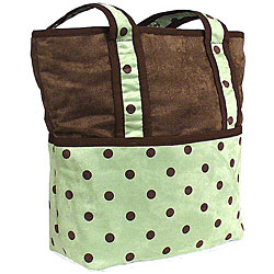 Hoohobbers Green Dots Tote-Hoohobbers, green dots, diaper bag