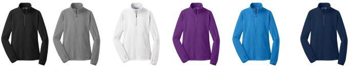 Microfleece 1/2 Zip Pullover-LADIES-