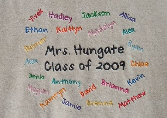 Cozy Embroidered Class Blanket