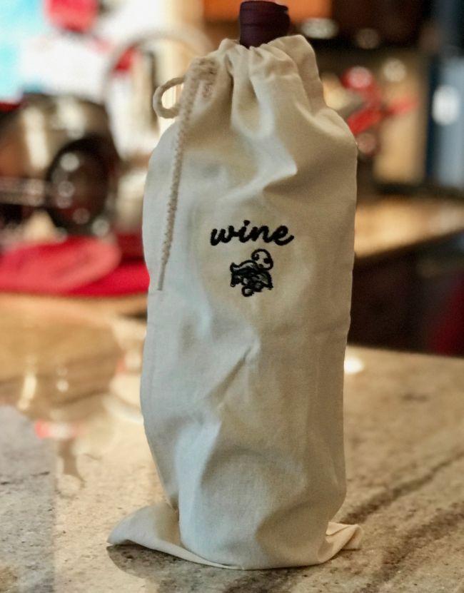 Canvas Wine Bag-