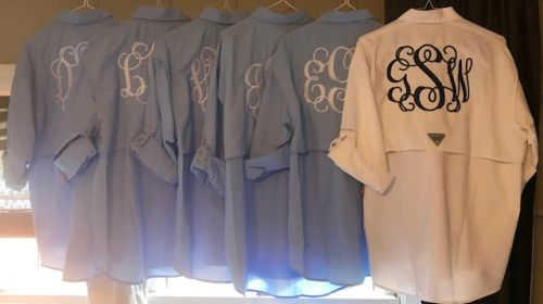 Fisherman's Shirt-Mens Fisherman's embroidered shirt