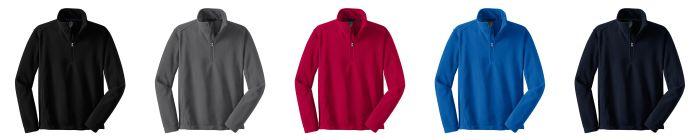 Heavy Weight 1/2 Zip Fleece-Unisex-