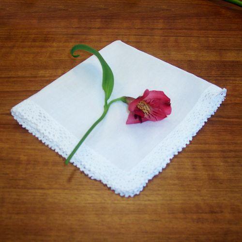 Crochet Edge Handkerchief