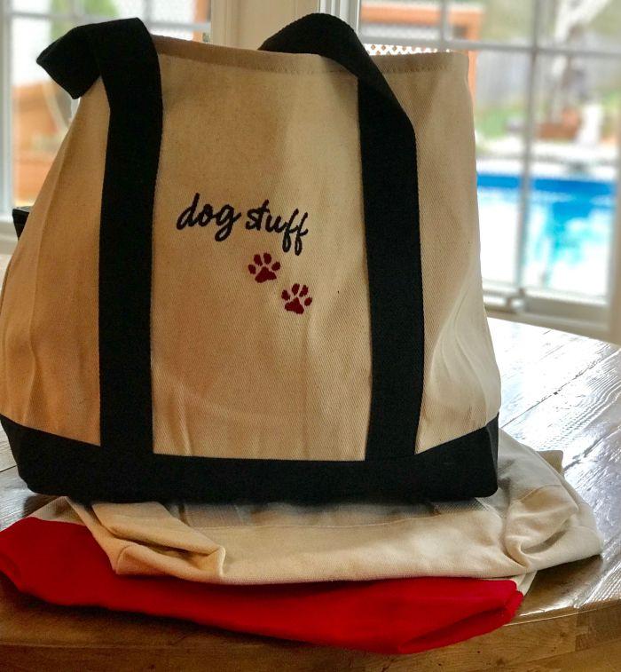 Canvas Dog Stuff Tote-
