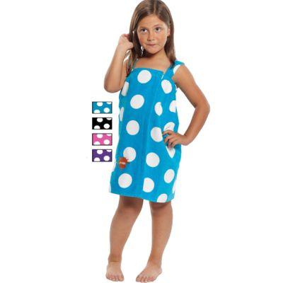 Girls Polka Dot Towel Wrap-