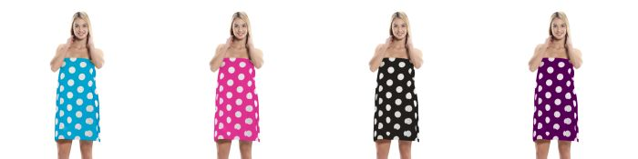 Polka Dot Towel Wrap-