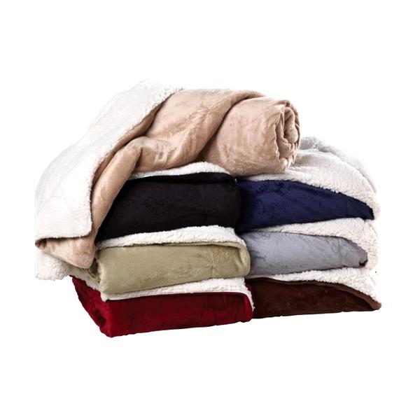 Ultra Soft Micro Mink Sherpa Throw Blanket-Plush, Sherpa, Throw, Blanket