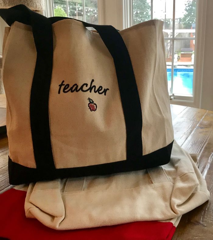Canvas Tote for Teacher